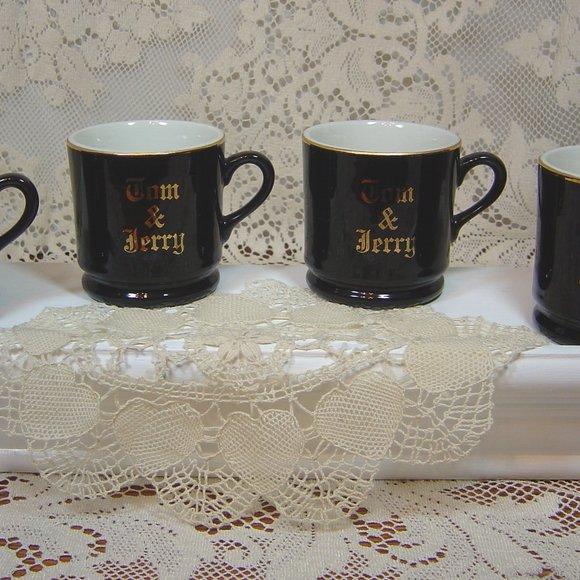 4 Hall USA Tom & Jerry mugs black & gold